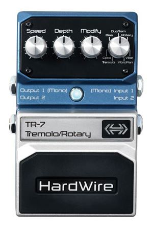 Hardwire TR7 Stereo Tremolo and Rotary Speaker Guitar Pedal