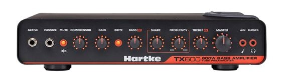 Hartke TX600 600 watt Class D Bass Guitar Tube Amplifier