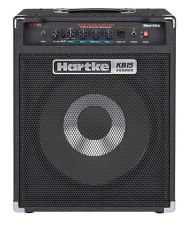 "Hartke KB15 Kickback Bass Combo with 15"" Hydrive Speaker 500 Watts"