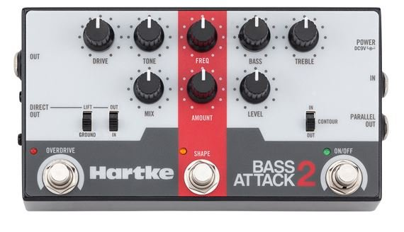 Hartke Bass Attack 2 Bass Preamp/Direct Box with Overdrive