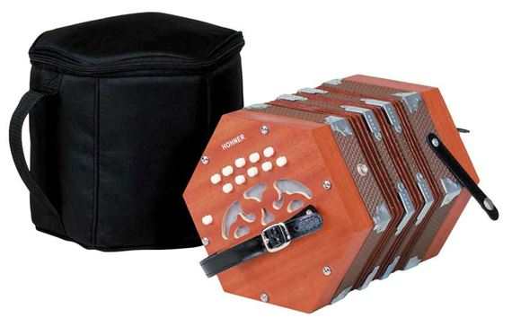 Hohner D40 Concertina with Gig Bag