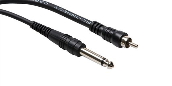"Hosa CPR105 Unbalanced Interconnect 1/4"" TS to RCA"