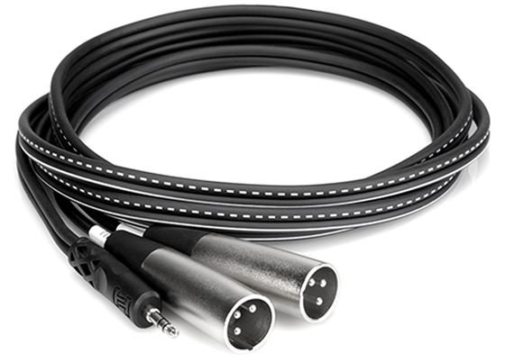 Hosa Stereo Breakout 3.5mm TRS to Dual XLR Male Cables