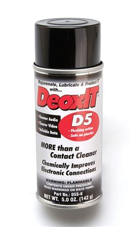 Hosa D5S6 CAIG DeoxIT Contact Cleaner 5% Spray