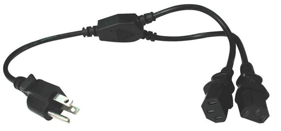 Hosa Power Y Cable Dual IEC C13 to NEMA 5 15P