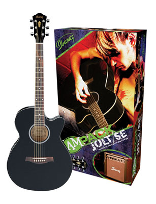 Ibanez IJAE5BK Jam Pack JOLT SE Acoustic Electric Package