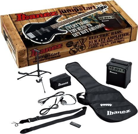 Ibanez IJXB150B Jumpstart Electric Bass Guitar Package