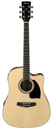 Ibanez PF15ECEWC Performance Acoustic Electric Guitar with Case