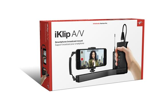 IK Multimedia iKlip AV Smartphone Video Stabllizer and Preamp