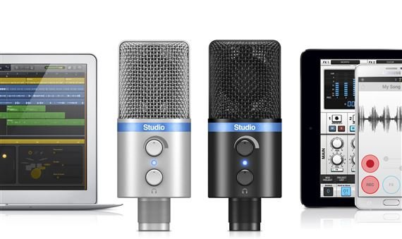 IK Multimedia iRig Mic Studio iOS and USB Condenser Microphone