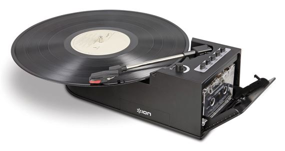 ION Audio Duo Deck USB Turntable with Cassette Deck
