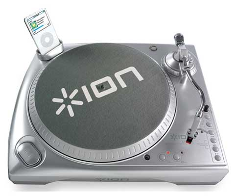 ION Audio LPDOCK USB DJ Turntable with iPod Dock