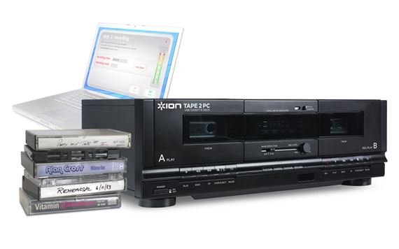 ION Audio TAPE 2 PC USB Cassette Recorder Deck