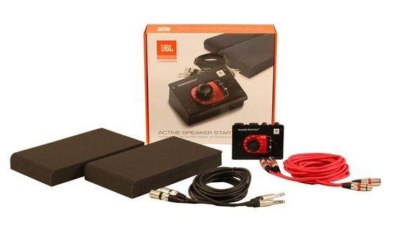 JBL Active Studio Monitor Starter Pack Nano Patch Cables and Iso Pads