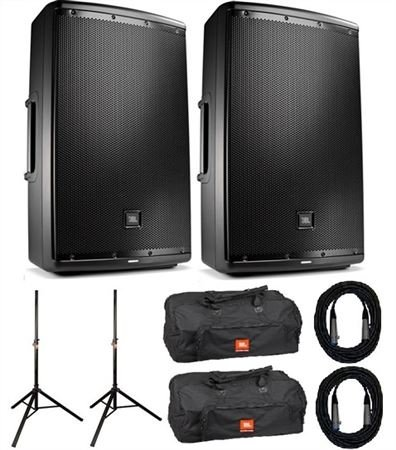 "JBL EON615 Powered 15"" 2-Way Full Range Loudspeaker Pair Package"