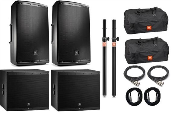 JBL EON615/EON618 Powered Full Range/Subwoofer Pair Package