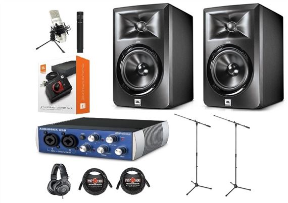 JBL LSR305 Studio Monitor And PreSonus AudioBox USB Recording Pack