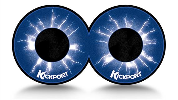 KickPort D Pad Bass Drum Impact Pad 2 Pack