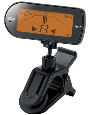 Korg AW2 Clip On Chromatic Tuner