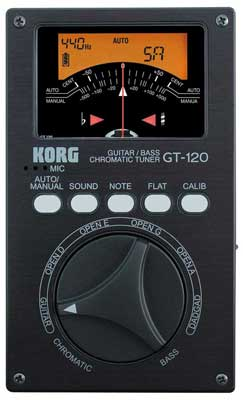 Korg GT120 Chromatic Guitar and Bass Tuner