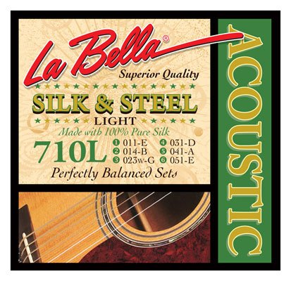 La Bella Silk and Steel Wound Acoustic Guitar Strings
