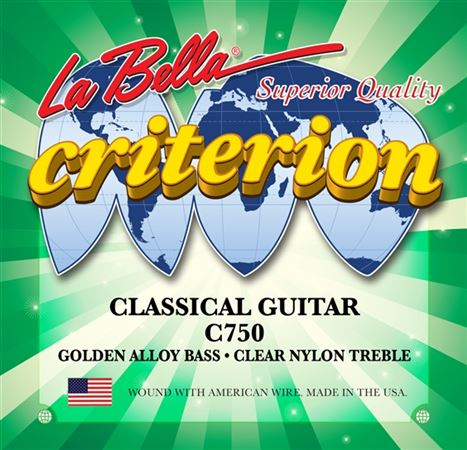 La Bella Criterion Clear Nylon Golden Alloy Classical Guitar Strings