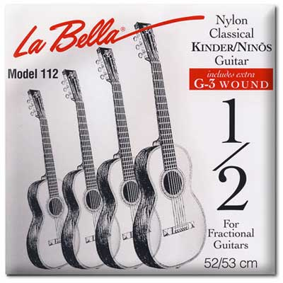 La Bella FG112 Classical Guitar Strings for 1/2 Size Guitar