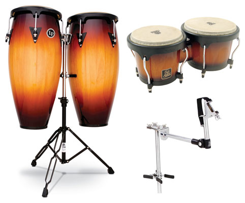Latin Percussion Aspire LPA646 Wood Conga and Bongo Package