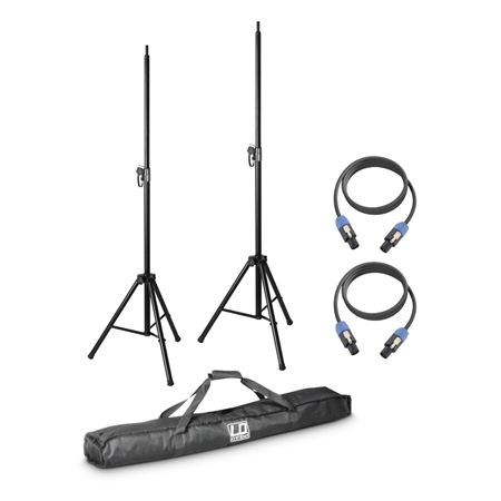LD Systems DAVE 8 ROADIE Speaker Stands and Cables