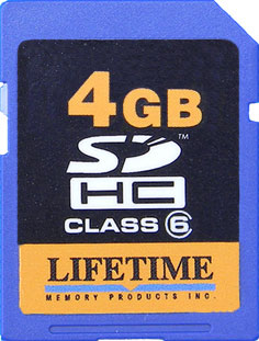 Lifetime 4GB Secure Digital Memory Card