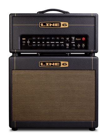 Line 6 DT25 Guitar Amp Stack with 1x12 inch Extension Cabinet