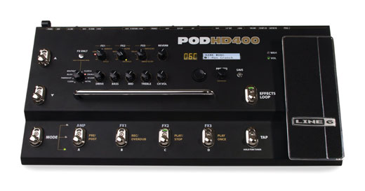 Line 6 POD HD400 HD Amp Modeling Multieffects Pedalboard