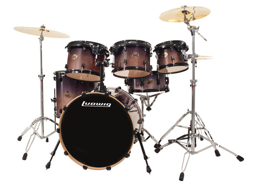 Ludwig Element Fusion 6 Piece Shell Kit Drum Set