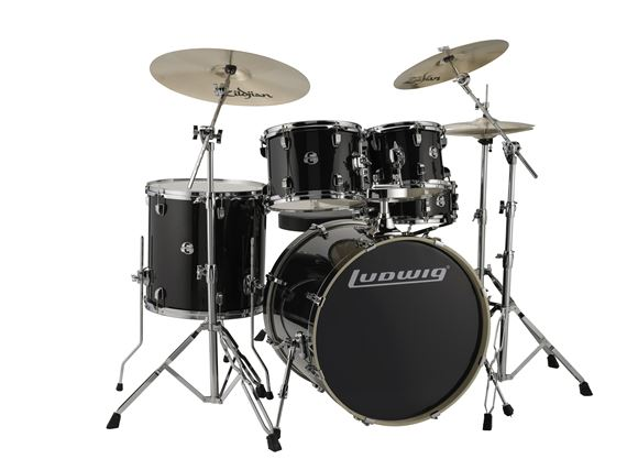 Ludwig Element Evolution Complete 5 Piece Drum Set ZBT Black Sparkle