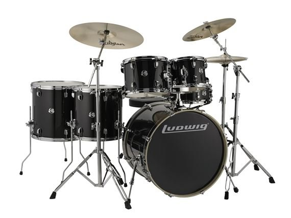Ludwig Element Evolution Complete 6 Piece Drum Set with ZBT Cymbals