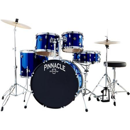 Ludwig Pinnacle Complete 5pc Drumset Mid Nght Blue