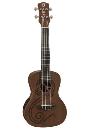 Luna Peace Acoustic Electric Concert Mahogany Ukulele with Gigbag