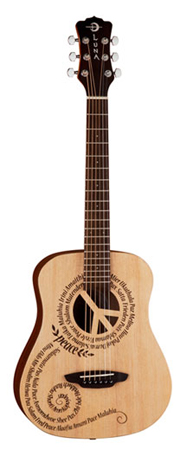 Luna Safari Peace Travel Acoustic Guitar with Bag
