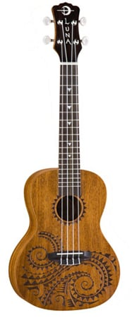 Luna TCMAH Tattoo Concert Ukulele with Bag