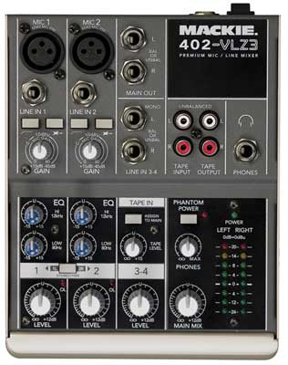 Mackie 402 VLZ3 Ultra Compact Stereo Mixer