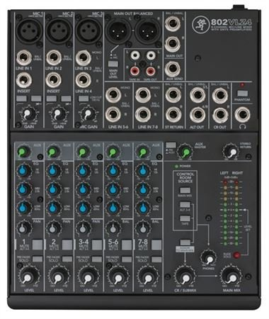 Mackie 802VLZ4 8 Channel Compact Stereo Mixer