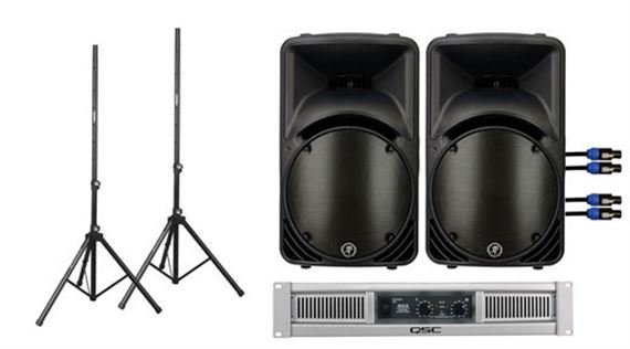 Mackie C300z Speakers and QSC GX3 Power Amp Complete Package