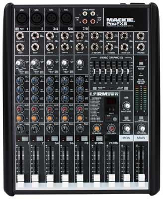 Mackie ProFX8 8 Channel USB Audio Mixer