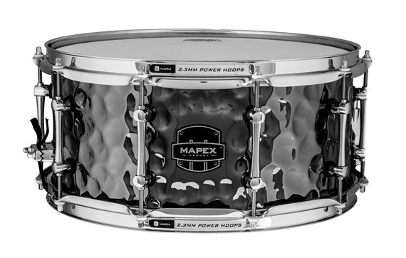 Mapex Armory Daisy Cutter 6.5x14 Inch Hammered Steel Snare Drum