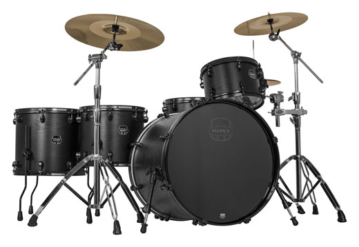 Mapex Meridian Black Limited Edition Raven 5 Piece Shell Kit