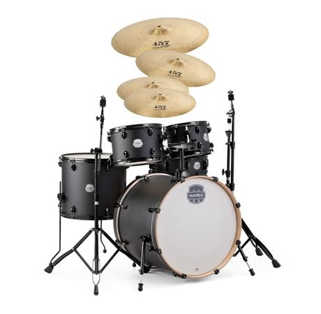 Mapex Storm Rock 5 Pc Drum Set With Hardware Wuhan WU457 Deep Black