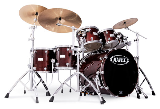 Mapex Saturn Plus Bass 7 Piece Shell Kit Drum Set