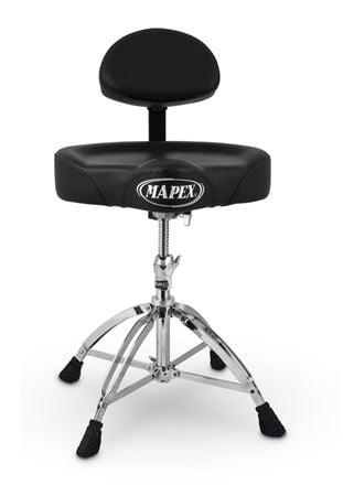 Mapex T775A Saddle Seat Double Braced 4 Leg Drum Throne With Back Rest