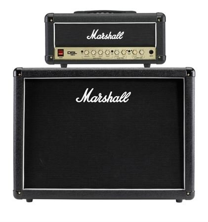 Marshall DSL15 Head and MX212 Cab Guitar Amp Stack