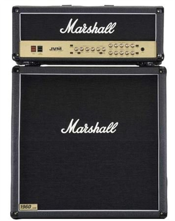 Marshall JVM205H Head and JCM1960A Cab Guitar Amp HalfStack